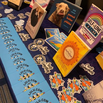 Lulu Books and Swag at San Francisco Writers Conference