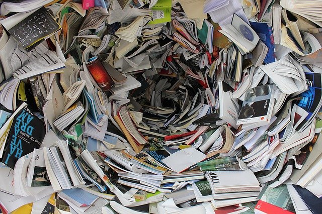 A vortex of books