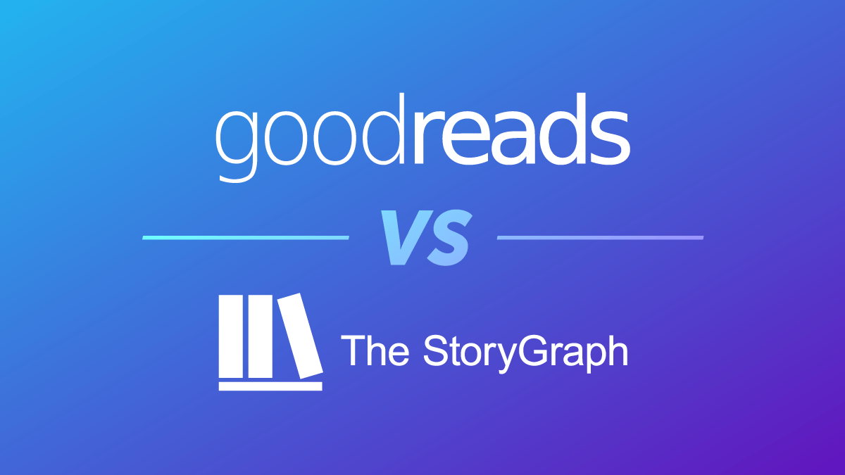 Goodreads and The StoryGraph compared for Authors blog graphic header