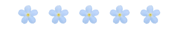 Image result for blue flowers blog dividers