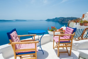 Beautiful Greek Terrace with Sea View