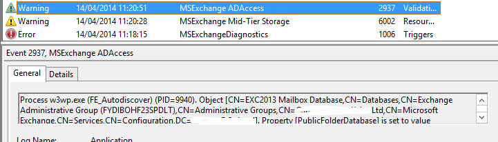Exchange 2013 – Outlook constantly disconnecting and re-connecting