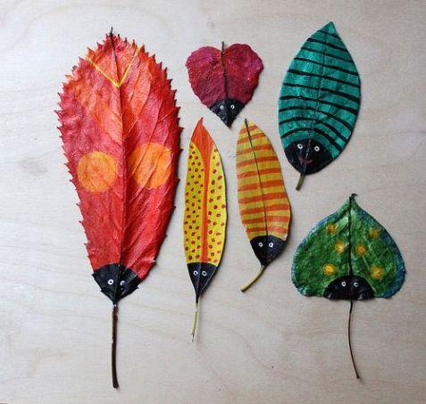 feuilles d'automne peintes7