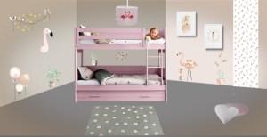 Déco chambre enfant flamant rose