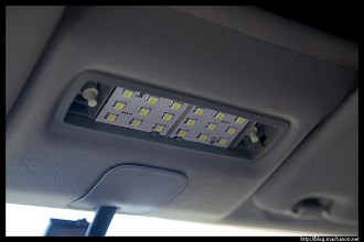 exLEDusa LED lights: overhead map lights installed.