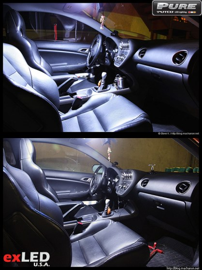 Putco PURE LED by KBcarstuff vs. customized Acura RSX LED replacement lights from exLEDusa.
