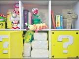 Custom Super Mario themed IKEA Kallax shelf with optional premium door