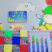 Nintendo Super Mario-themed Baby Nursery Featuring Bowser Jr.