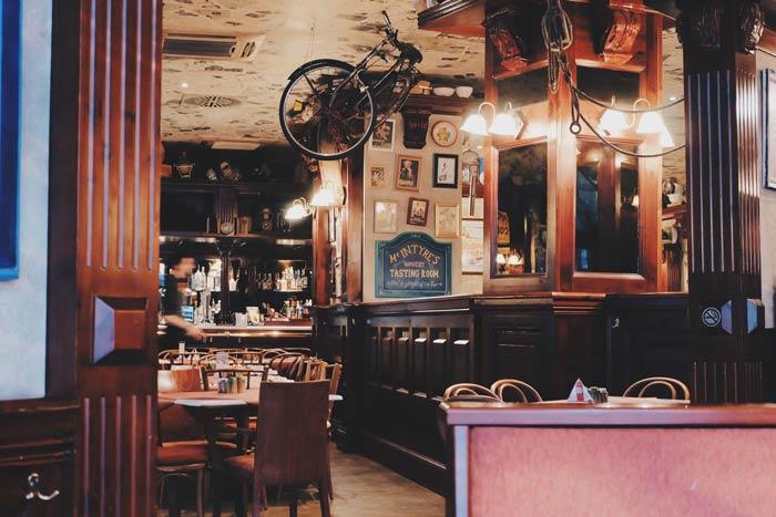 café restaurante estilo vintage