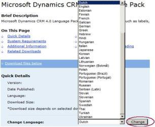 CRM Language Pack