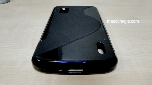 TPU Gel Silicone Case Back View