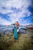 off loading in Starfish Island, Hundo Bay, Puerto Princesa Palawan