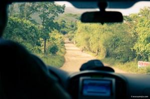 Road going to Sabang Beach, Puerto Princesa Palawan