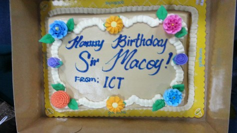 Cake from ICT Team