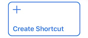 """(The """"Create Shortcut"""" button in the Shortcuts library)"""