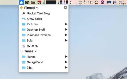 Short Cut Bar menu bar app.