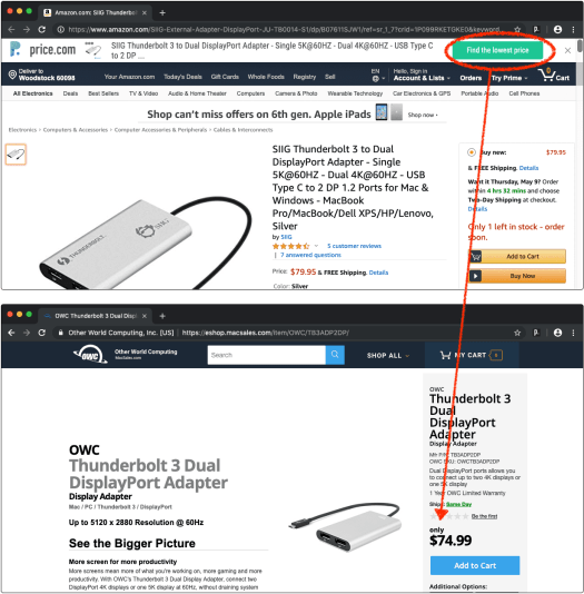 Price.com Browser Extension