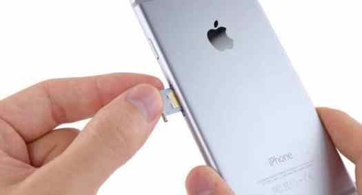 Swapping a SIM card on an iPhone