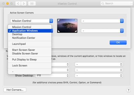 Dashbaord removed from macOS Catalina