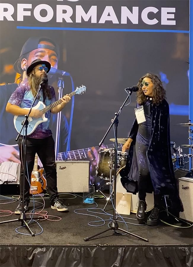 Mystic Joyride plays OWC booth at NAMM 2020