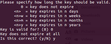 GPG key expiry