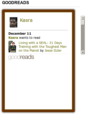 Broken Goodreads Widget