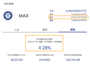 MAXT年回饋率
