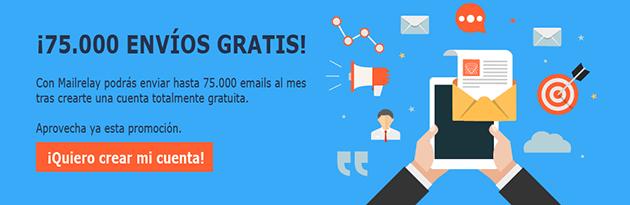 ¡Envía hasta 75.000 emails gratis!