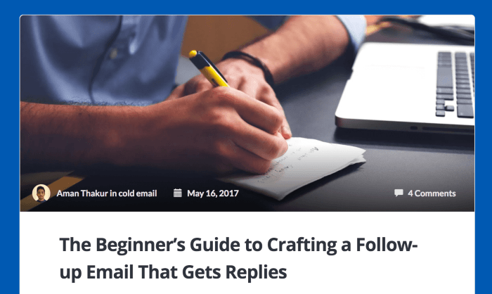 The Beginner's Guide to Crafting a Follow-up Email That Gets Replies.""