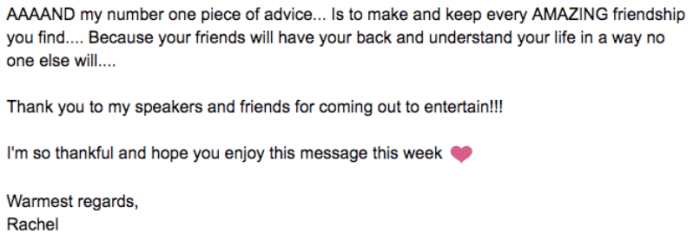 Rachel Pederson Email 2