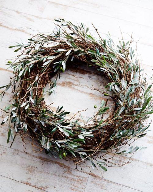 Une couronne de Noel traditionnelle
