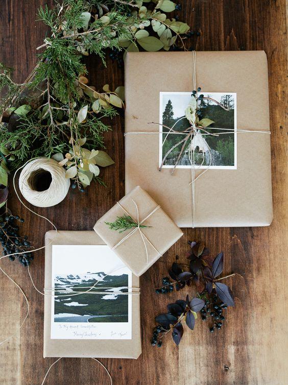 Envie d'un emballage cadeau pour Noel en papier kraft ? Suivez le guide !