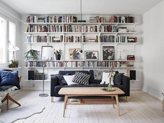 Comment aménager une bibliothèque dans un salon