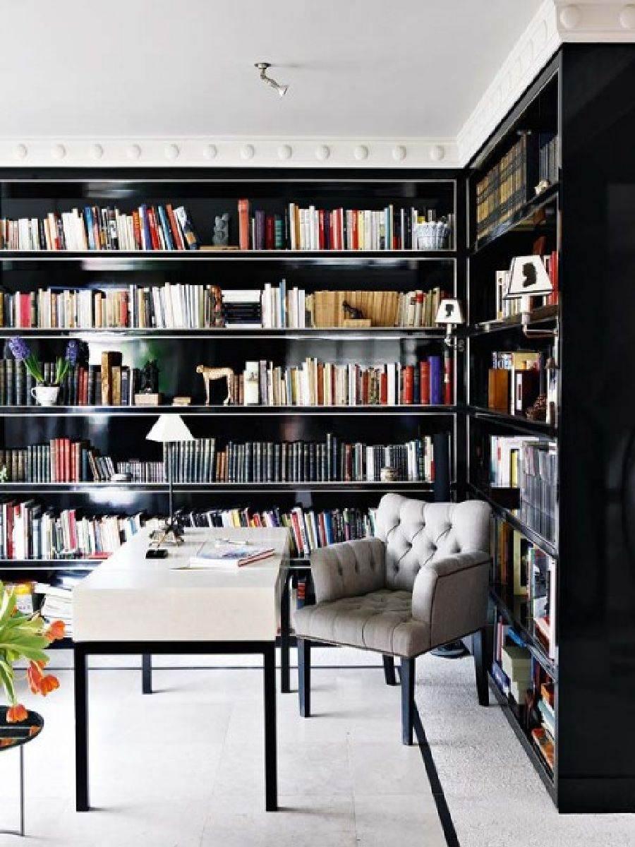 Idée déco pour aménager un bureau bibliothèque
