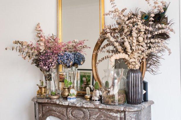 Utiliser des fleurs séchées pour décorer sa cheminée