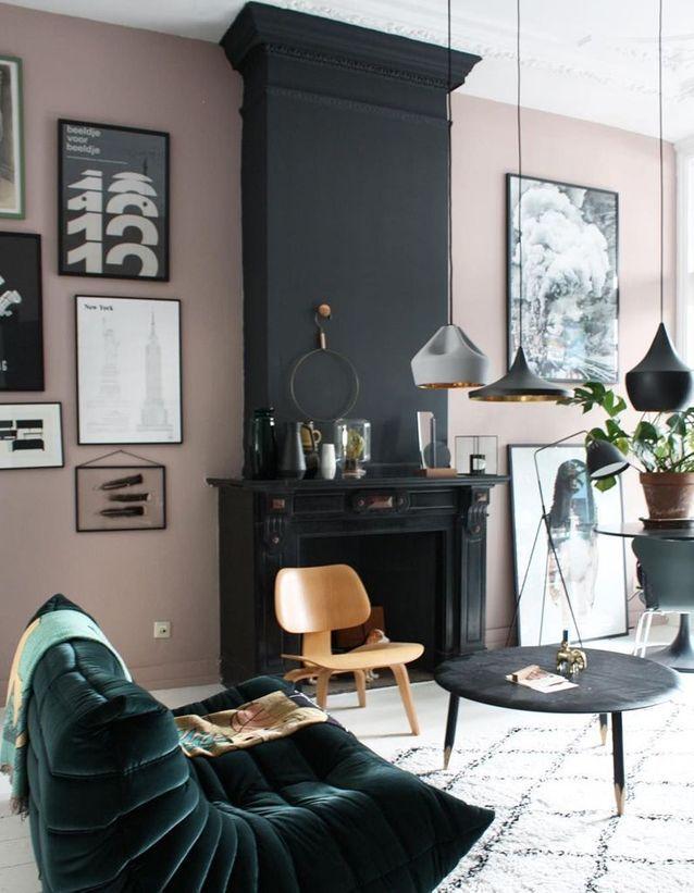 Comment associer le rose pastel avec du noir en décoration