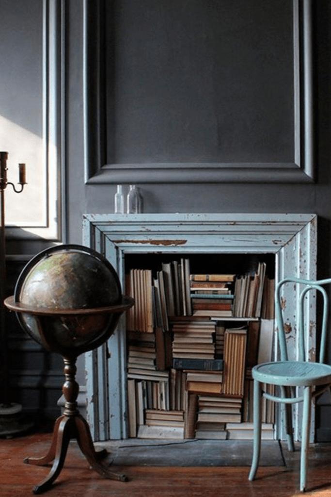 Une idée originale pour ranger ses livres sans bibliothèque