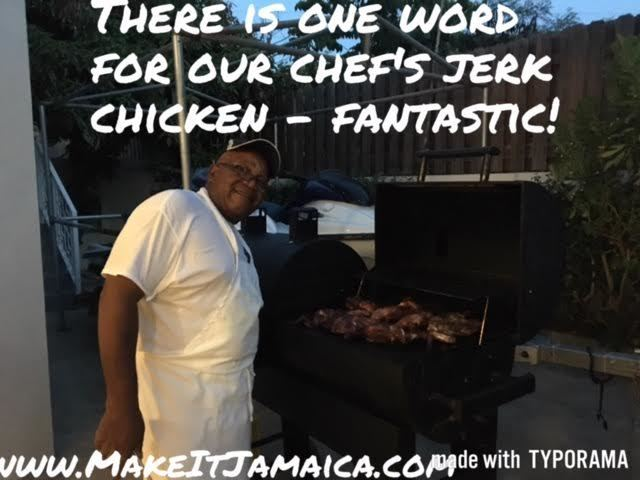 Sample real Jamaican jerk chicken at our villa in Discovery Bay