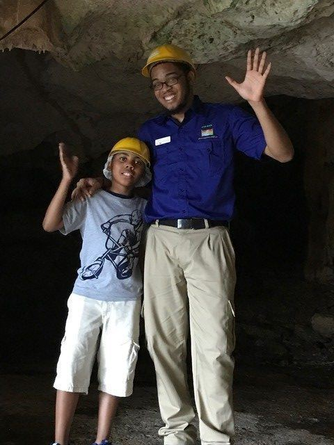 Darrian and Germaine at Green Grotto Caves, Discovery Bay, Jamaica
