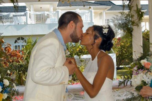 Jamaica destination wedding gazebo at Mais Oui Villa, Discovery Bay, Jamaica
