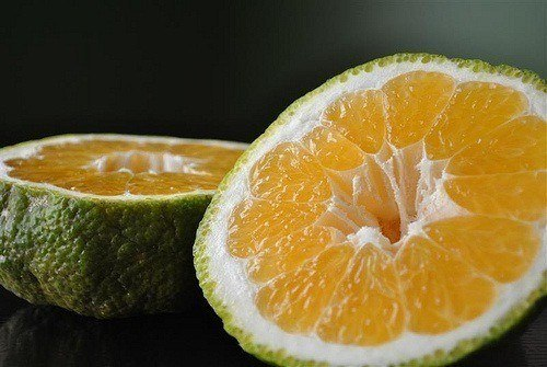 Ugli fruit - looks weird but great taste. Native to Jamaica