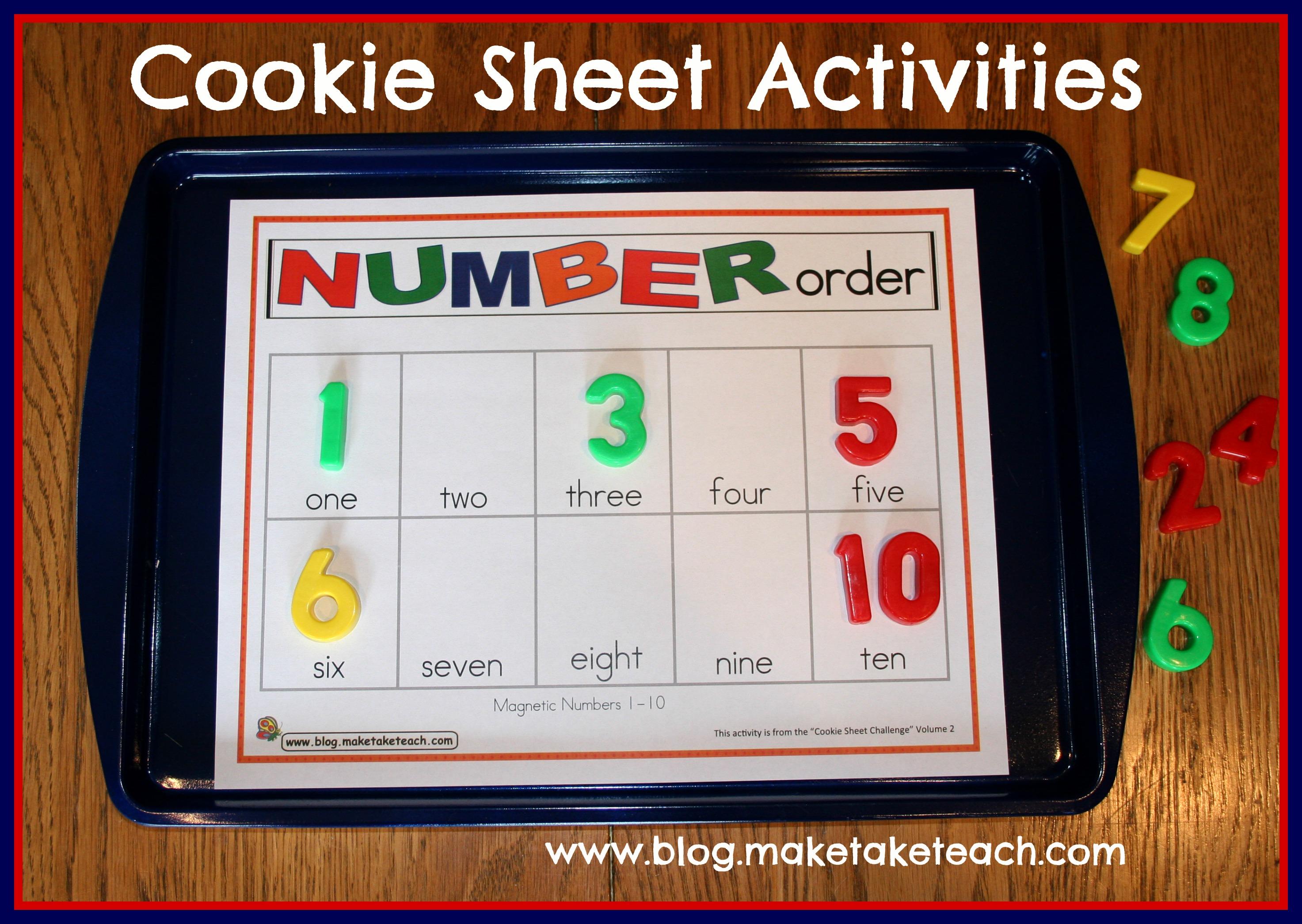 Cookie Sheet Challenge Volume 2 Number Order Number