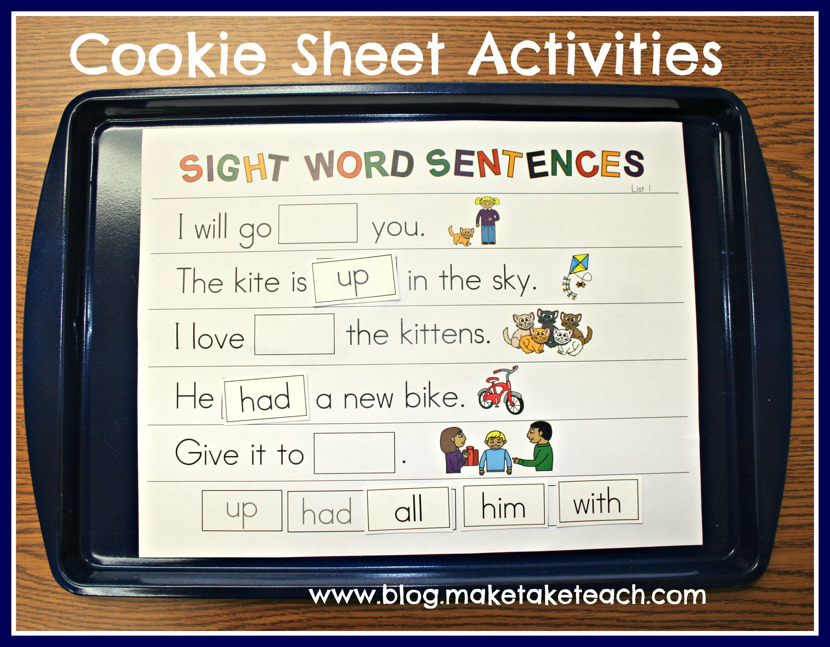 New 688 Sight Word Sentences Worksheets For Kindergarten