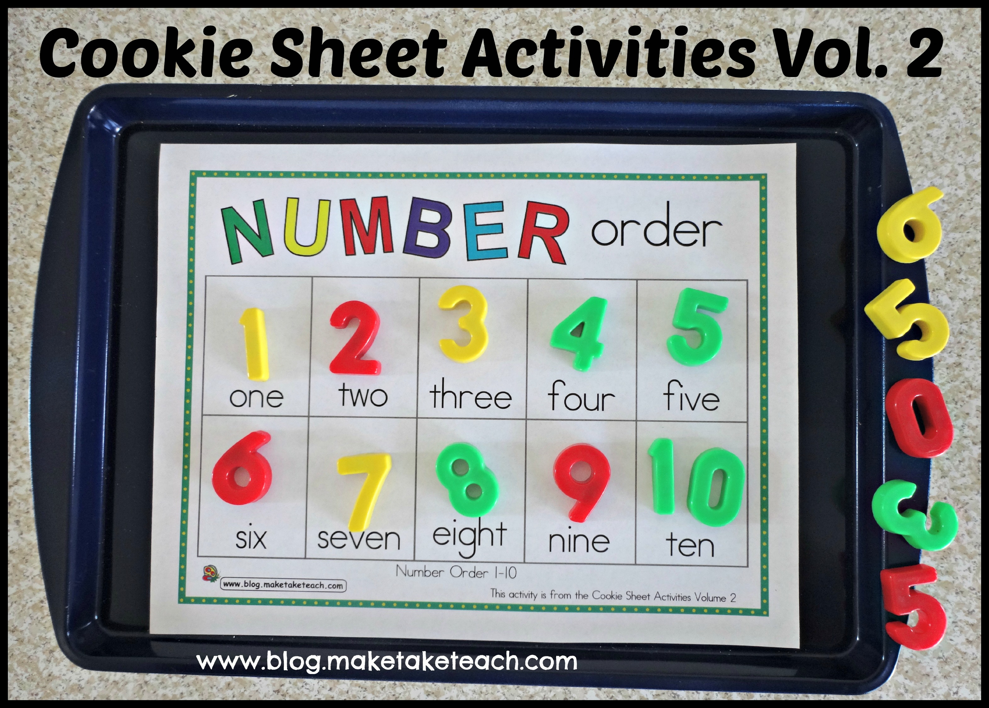Cookie Sheet Activities Pre K Kindergarten Bundle