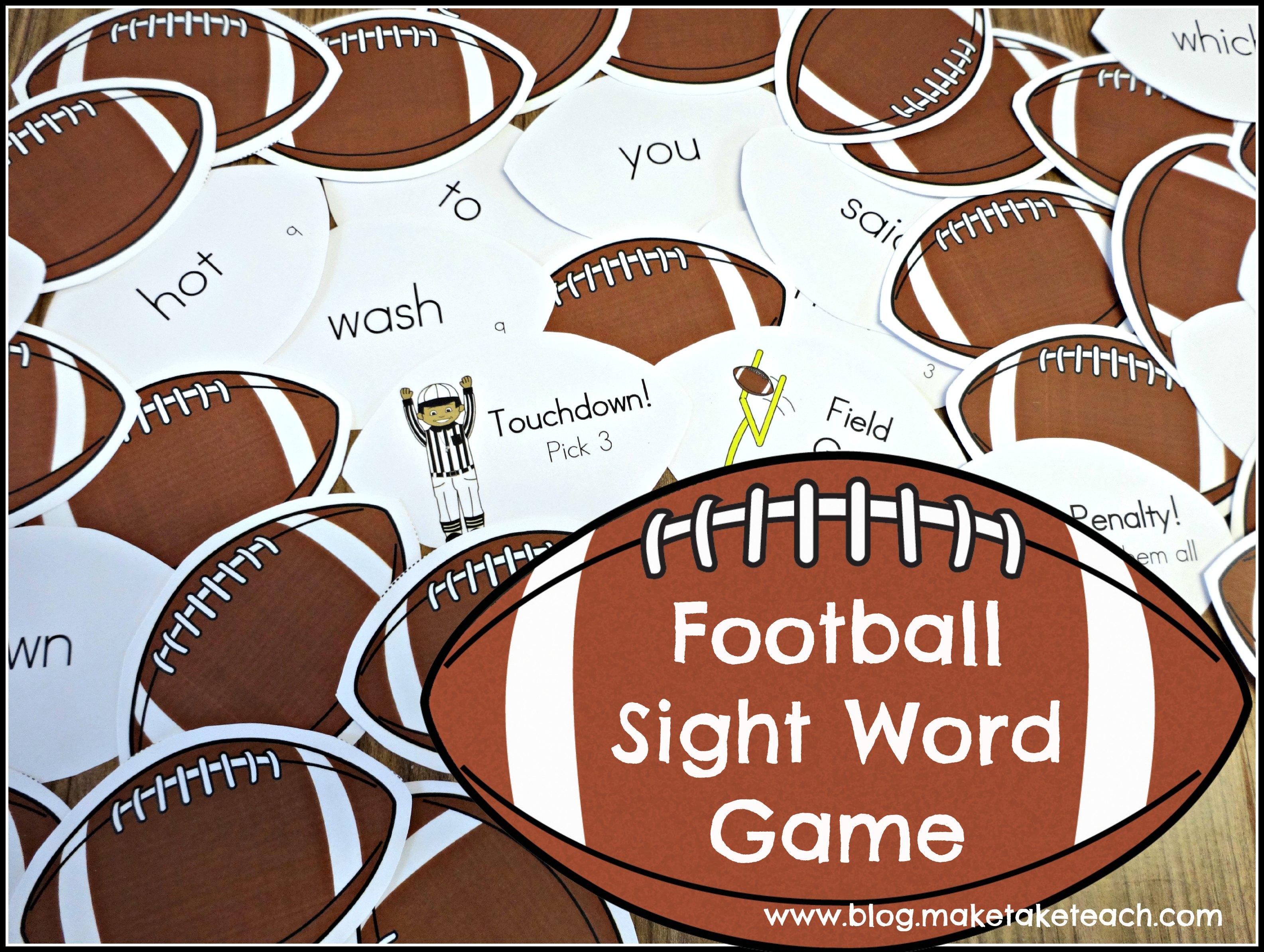 Fun Football Themed Activities