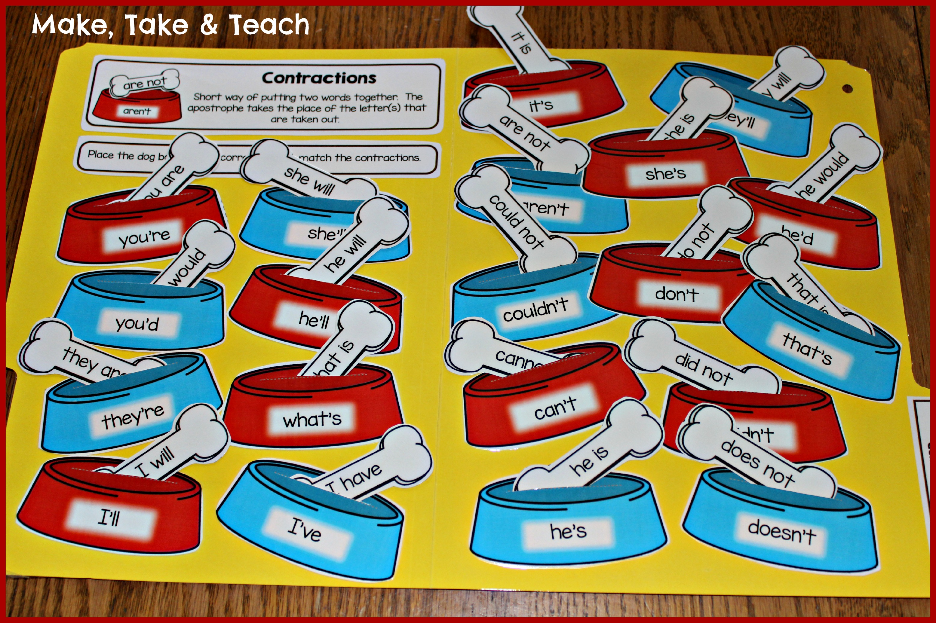 Hands On Activities For Teaching Contractions