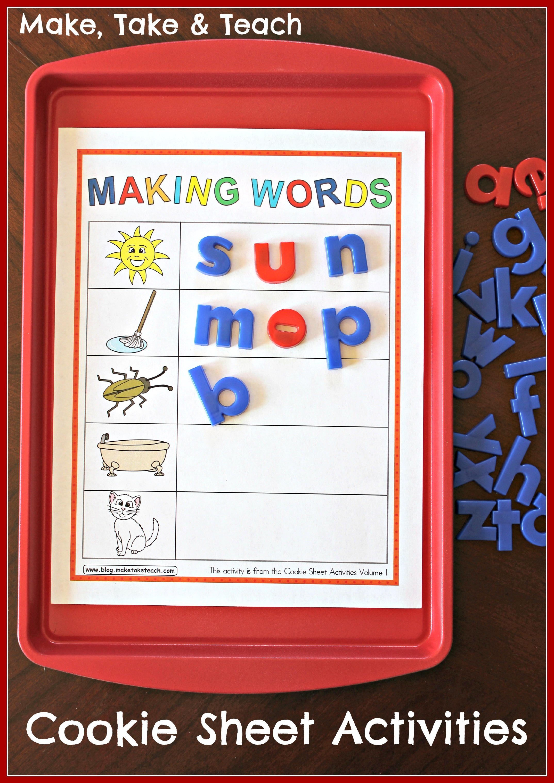 Cookie Sheet Activities Pre K K Bundle Early Literacy And Numeracy Activities
