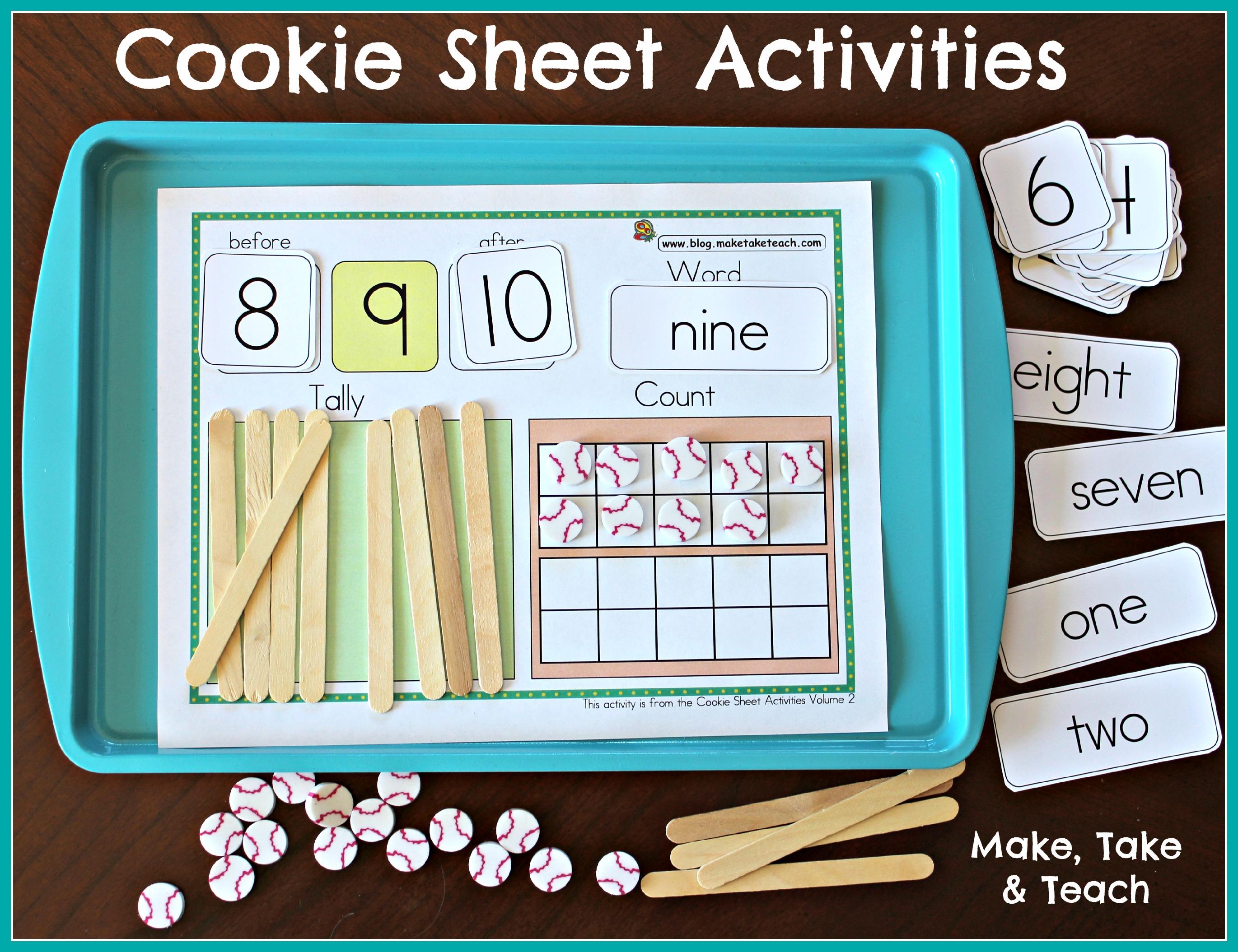 Cookie Sheet Activities Pre K K Bundle Early Literacy