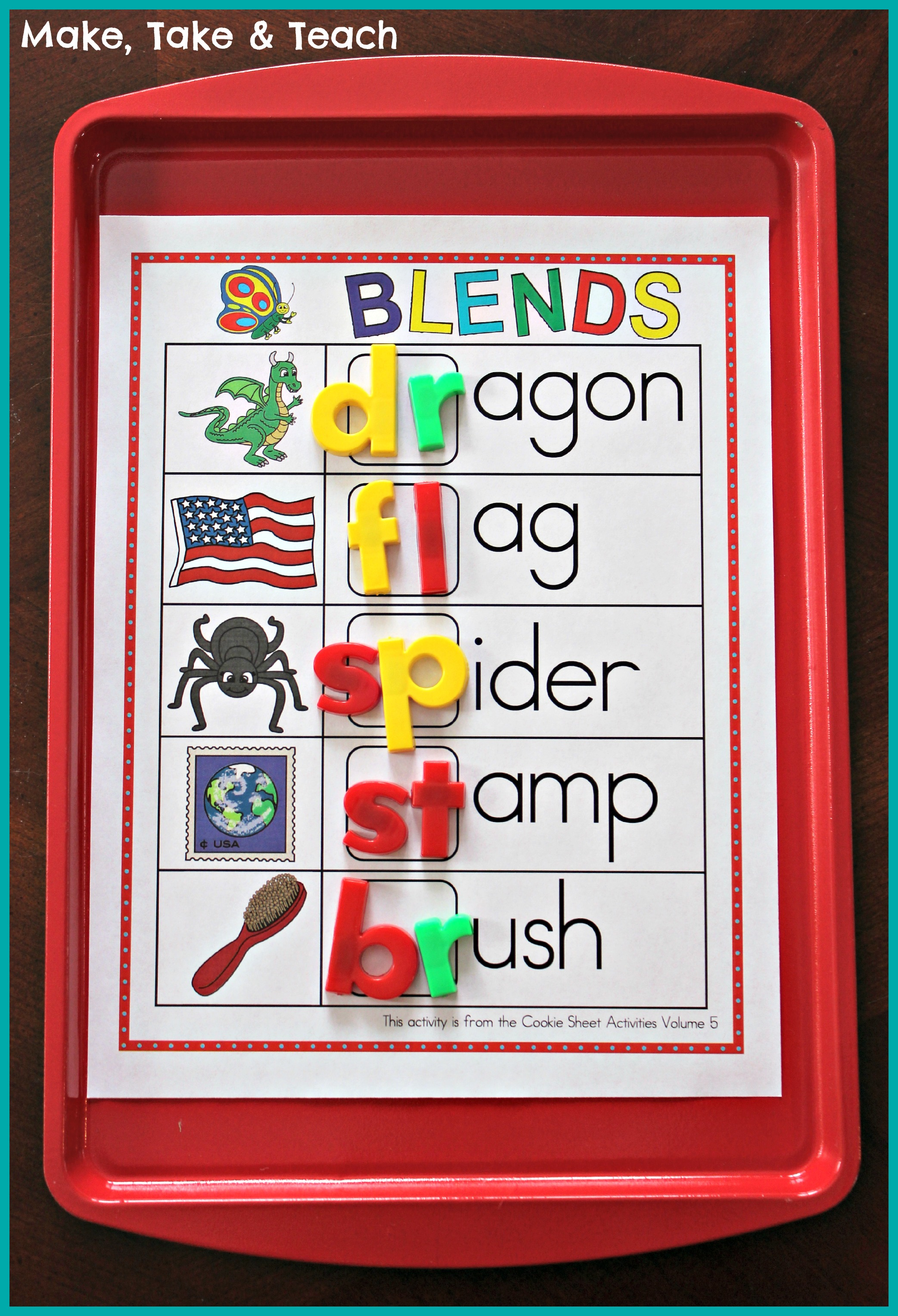 Cookie Sheet Bundle For Sight Words Blends Digraphs And Word Families