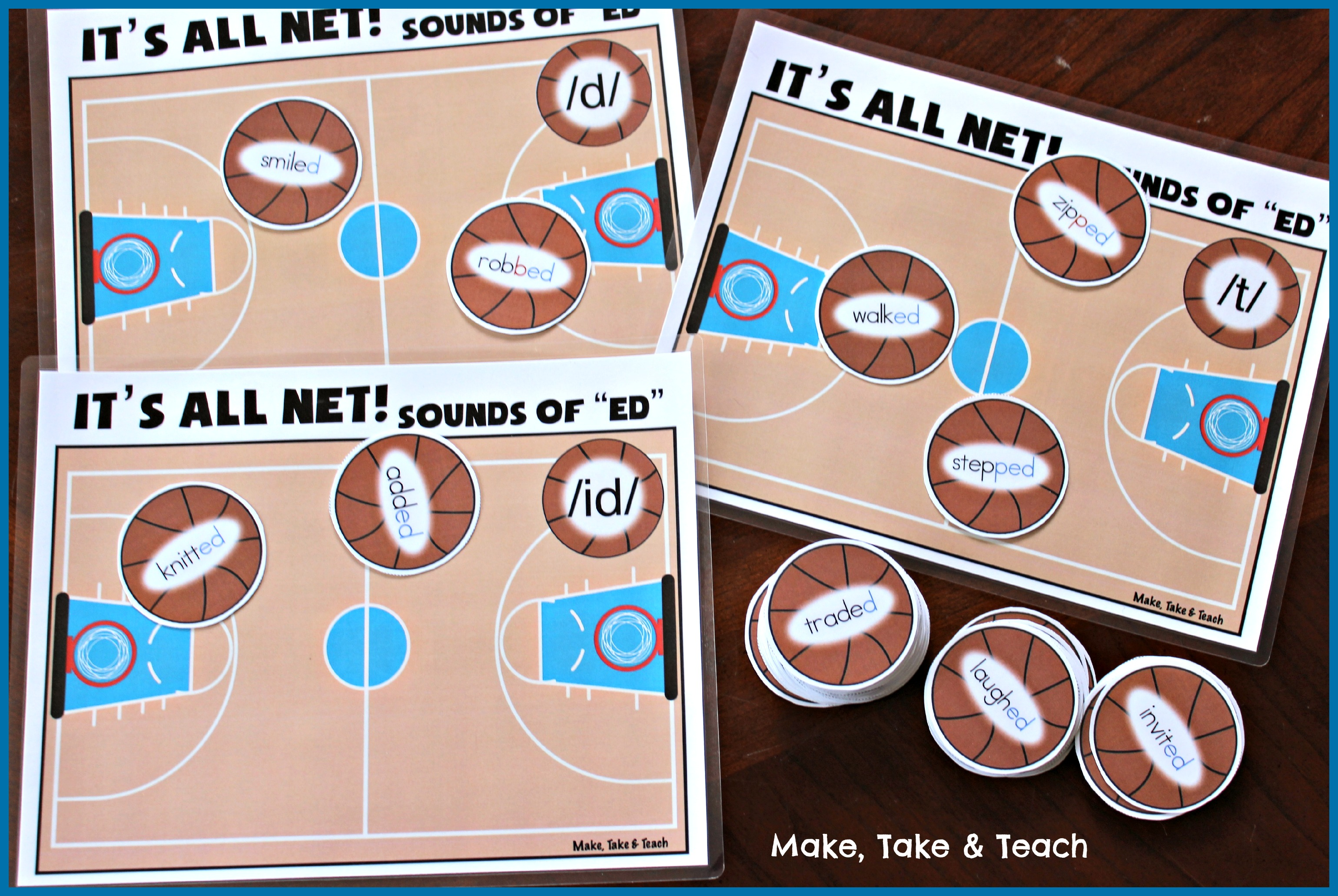 Basketball Themed Activities For Phonics And Sight Words